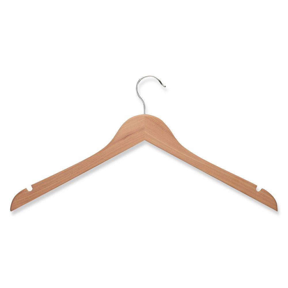 Honey-Can-Do Cedar Wood Shirt Hanger (5-Pack)