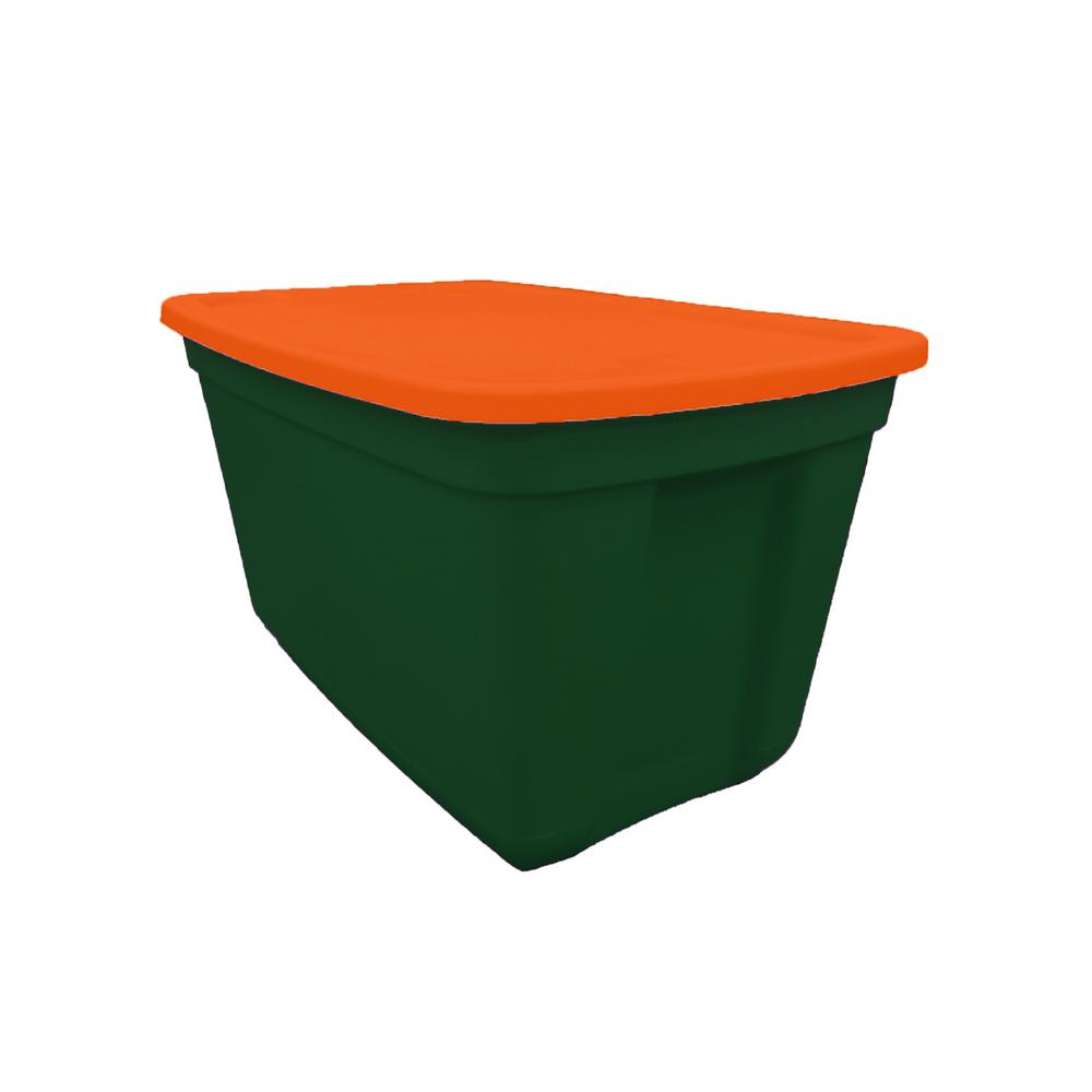 20 Gal. Storage Tote Envy Base-Deep Orange Lid