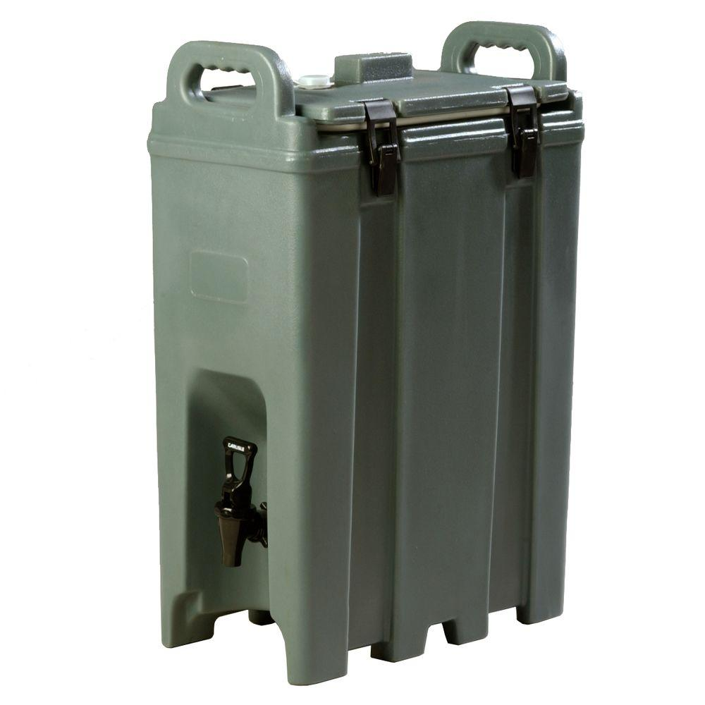 Insulated 5 gal. Beverage Server with Nylon Latch in Slate (Greyish)