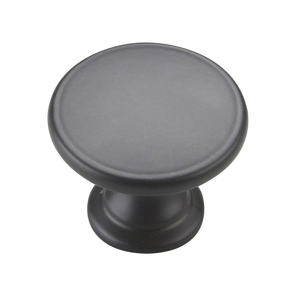 Richelieu Hardware 1-3/4 in. Black Cabinet Knob