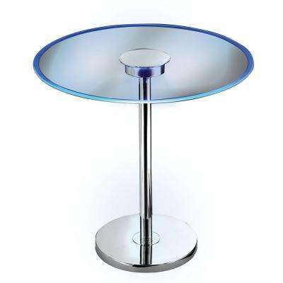 Spectral Chrome LED Color Changing End Table