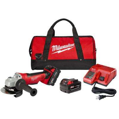 M18 18-Volt Lithium-Ion Cordless 4-1/2 in. Cut-Off Grinder Kit W/(2) 3.0Ah Batteries, Charger, Tool Bag