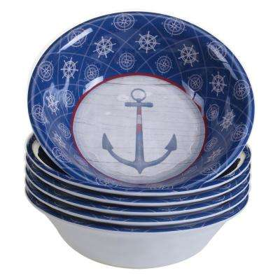 Nautique 6-Piece Blue Bowl Set