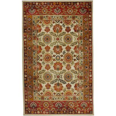 Scarlett Gold 8 ft. x 10 ft. Ornamental Area Rug