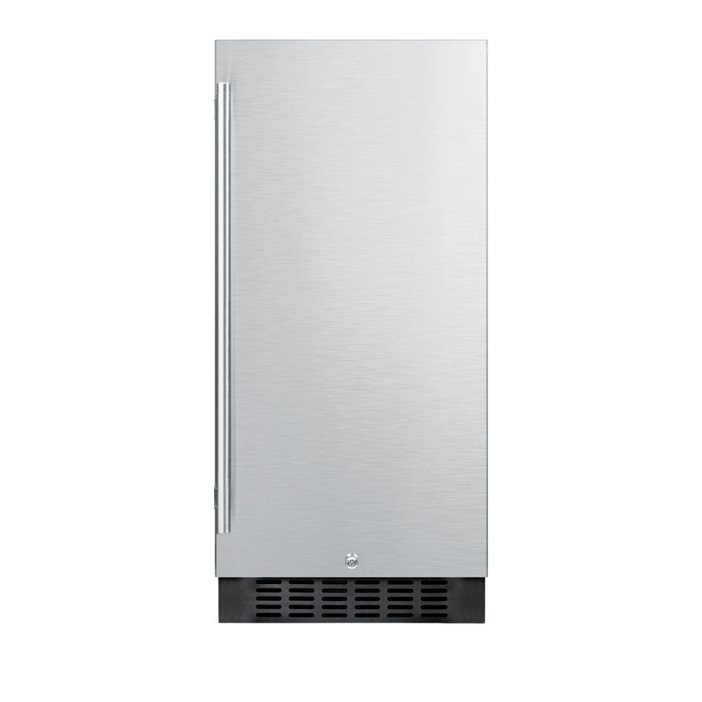 15 in. 3 cu. ft. Outdoor Refrigerator in Stainless Steel/Black
