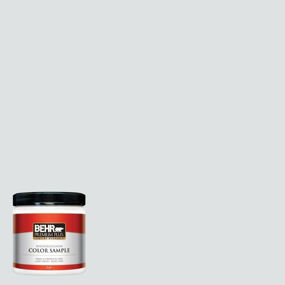 BEHR Premium Plus 8 oz. #W-F-520 Ash White Interior/Exterior Paint Sample