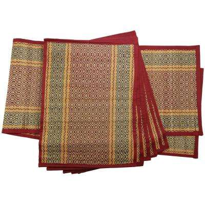 Elegant Multi-Color Placemat and 1-Table Runner (Set of 6)