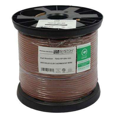 500 ft. 20/3 Brown Solid CL3R Thermostat Wire