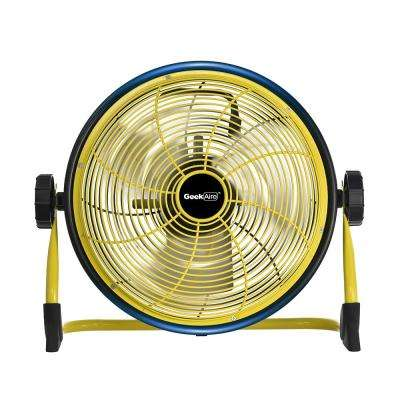 Cordless 12 in. Variable Speed Floor Fan with Power Bank Feature