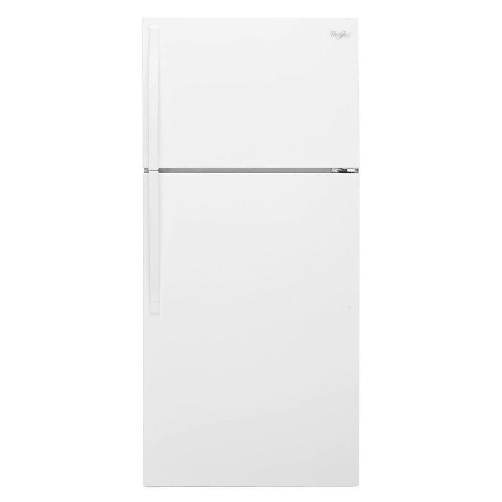 Whirlpool 28 in. W 14.3 cu. ft. Top Freezer Refrigerator in White