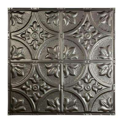 Jamestown 2 ft. x 2 ft. Nail-up Tin Ceiling Tile in Argento