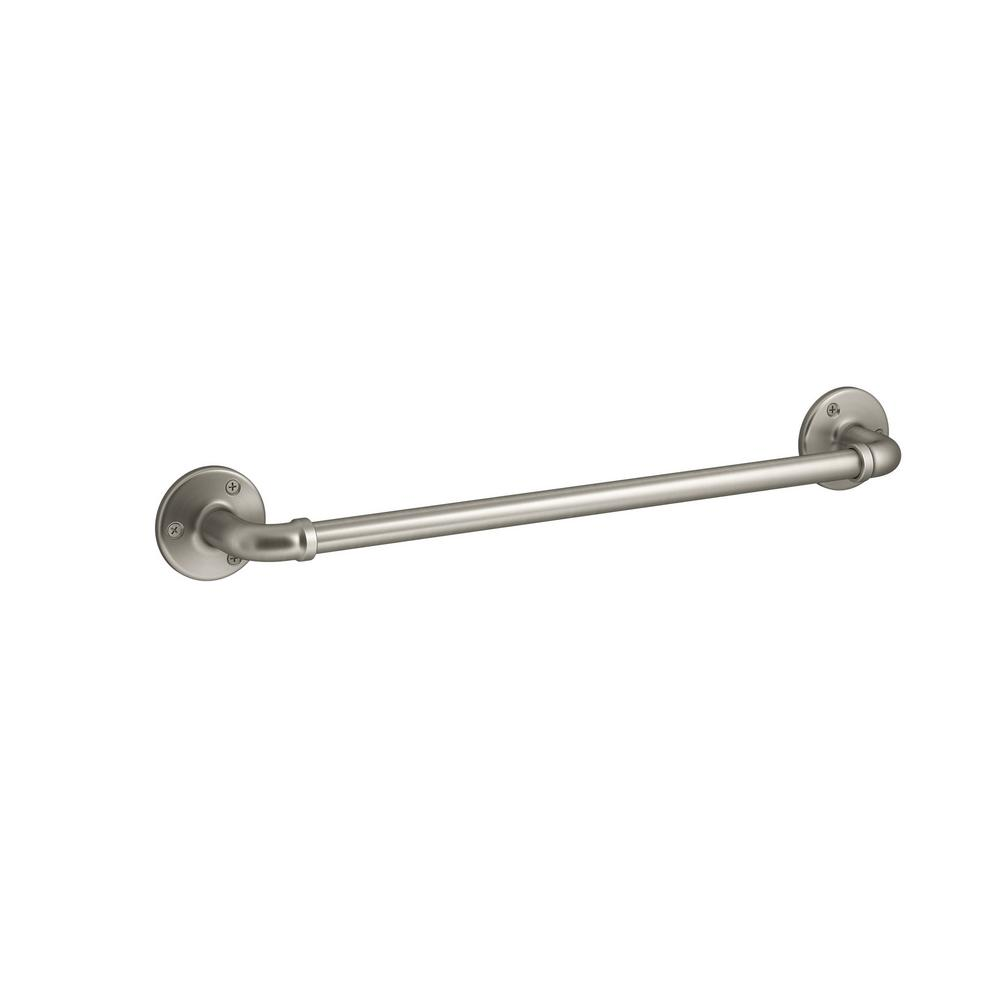KOHLER Worth 18 in. Towel Bar in Brushed Nickel