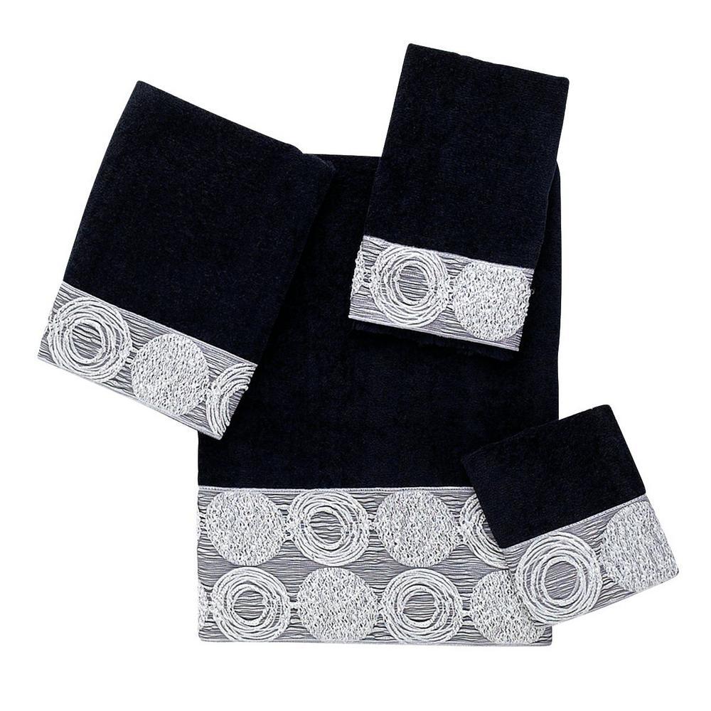 Galaxy 4-Piece Bath Towel Set in Black
