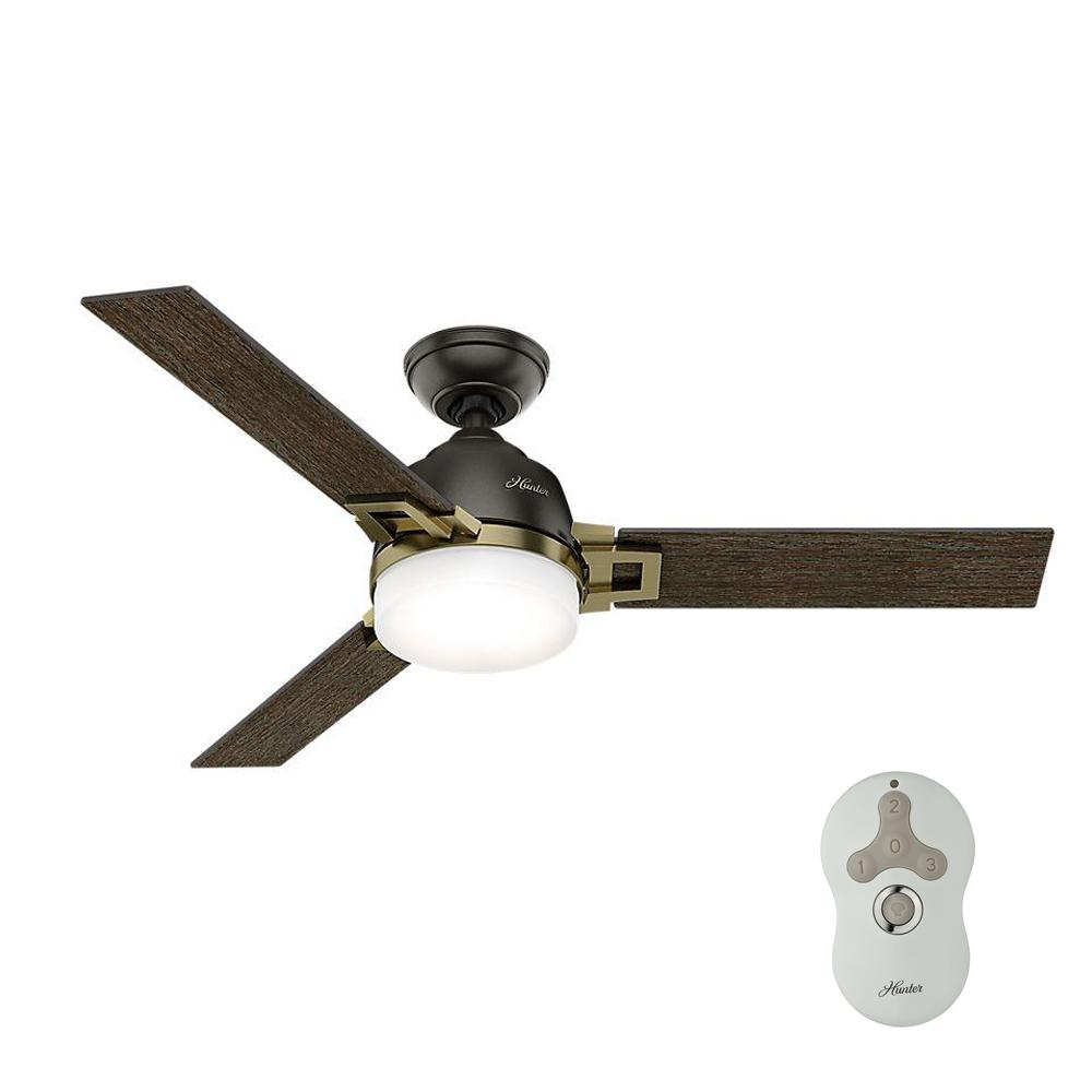 Hunter leoni 48 in led indoor noble bronze ceiling fan with light this review is fromleoni 48 in led indoor noble bronze and modern brass ceiling fan with universal remote and dimmable bulbs aloadofball Gallery