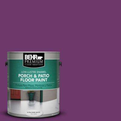 1 gal. #S-G-680 Raspberry Mousse Low-Lustre Porch and Patio Floor Paint
