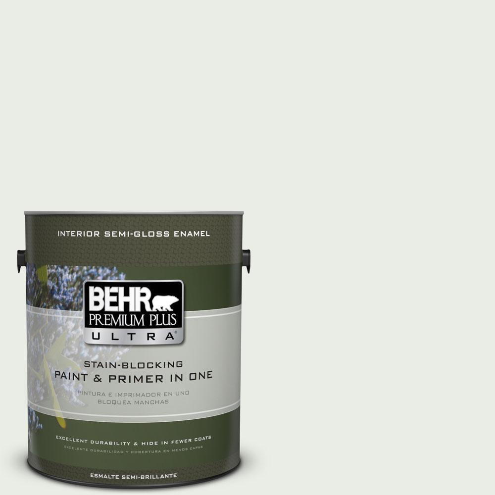 BEHR Premium Plus Ultra 1-gal. #N410-1 Silence Semi-Gloss Enamel Interior Paint