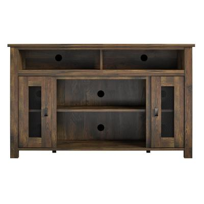 Macona 48 in. Rustic Particle Board TV Stand Fits TVs Up to 48 in. with Cable Management