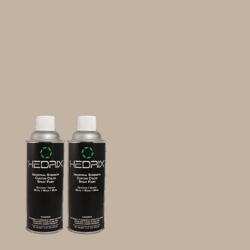 Hedrix 11 oz. Match of 3A39-3 Layfette Silver Gloss Custom Spray Paint (2-Pack)