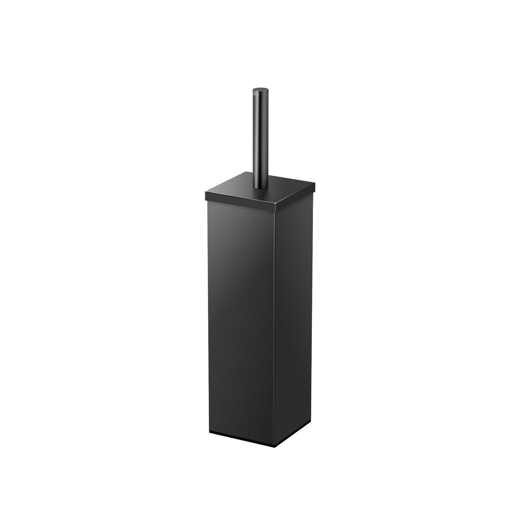 Gatco Square 3 13 In W Stainless Steel Toilet Brush Holder Matte Black