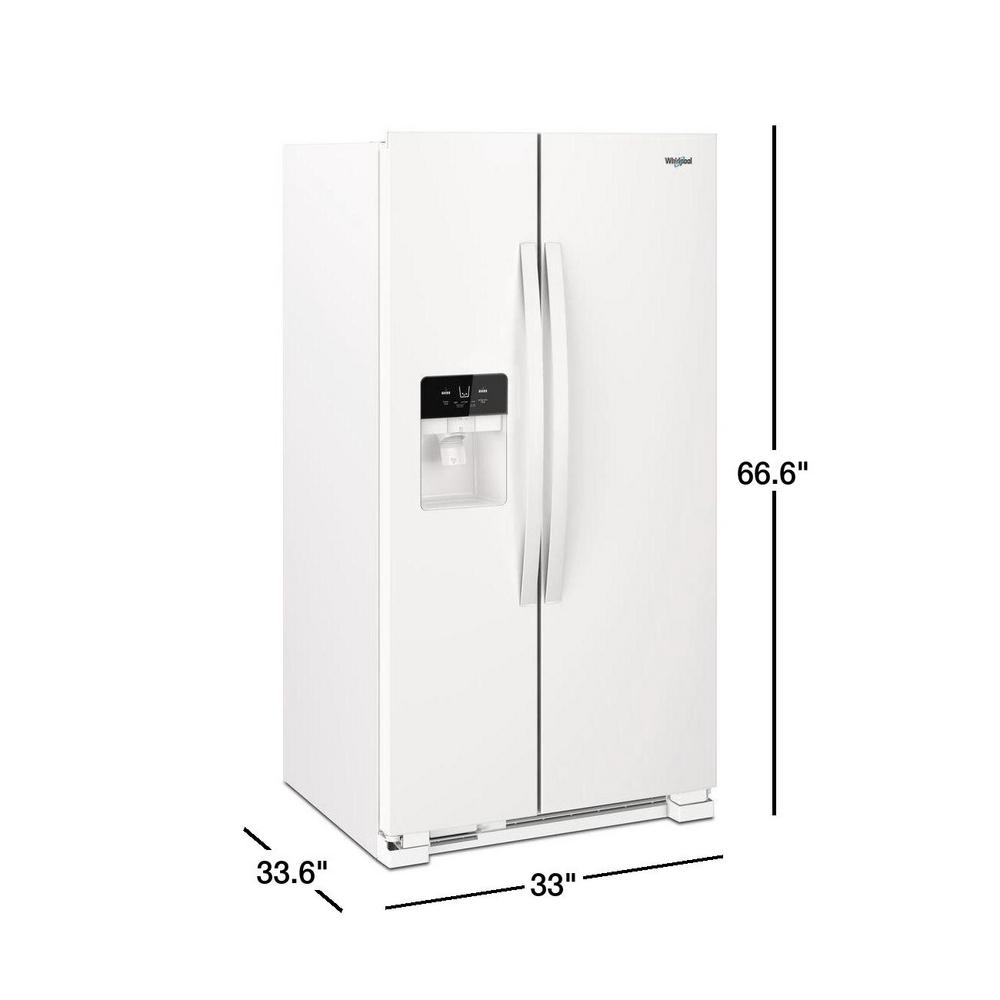 Whirlpool 21 Cu Ft Side By Side Refrigerator In White Wrs321sdhw The Home Depot
