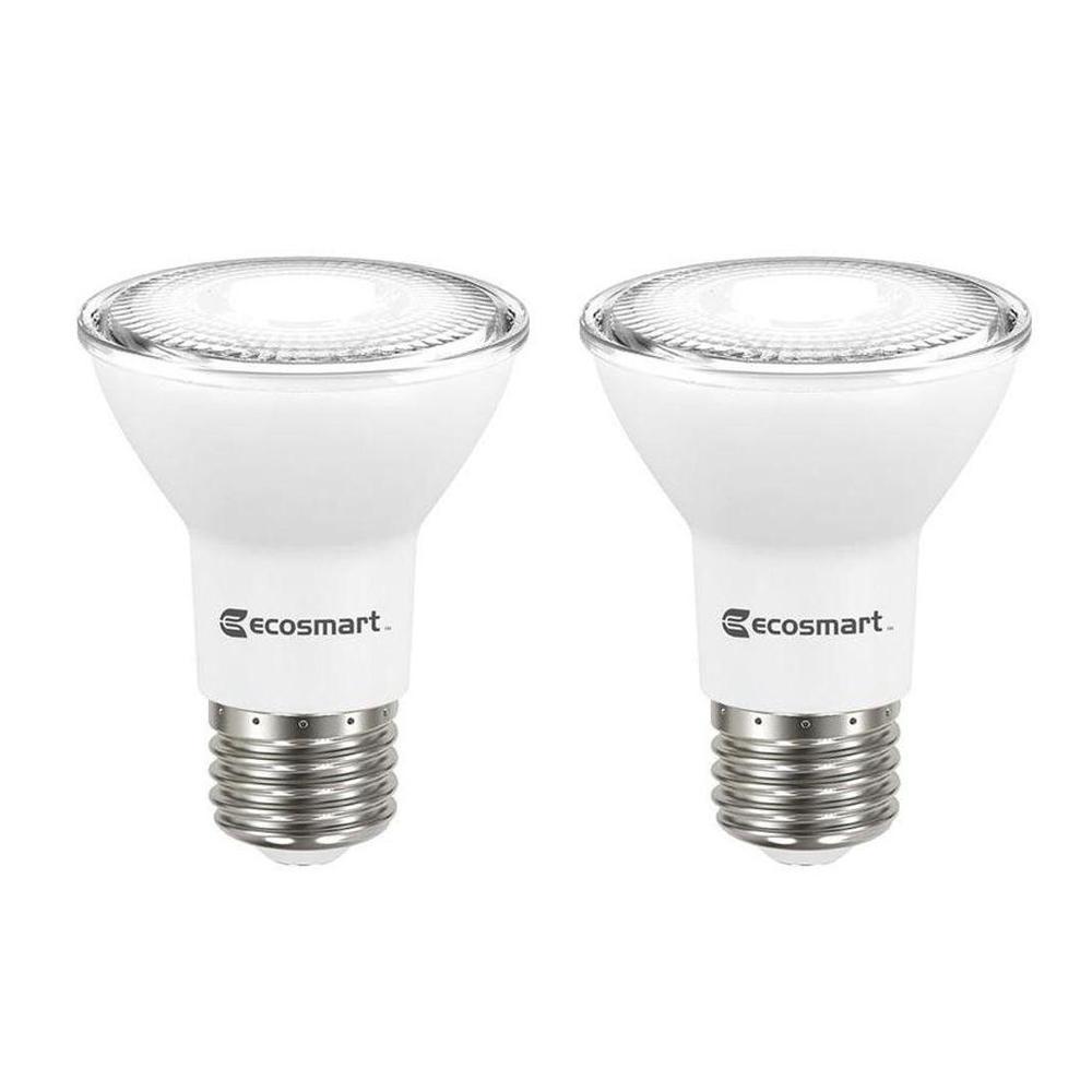 50 Watt Equivalent PAR20 Dimmable LED Flood Light Bulb Daylight (2 Pack)