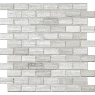 White Oak 11.81 in. x 11.81 in. x 10mm Honed Marble Mesh-Mounted Mosaic Tile (9.69 sq. ft. / case)
