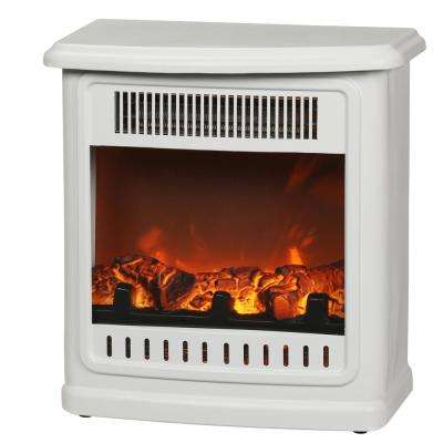Crestland 13 in. Desktop Electric Fireplace in White