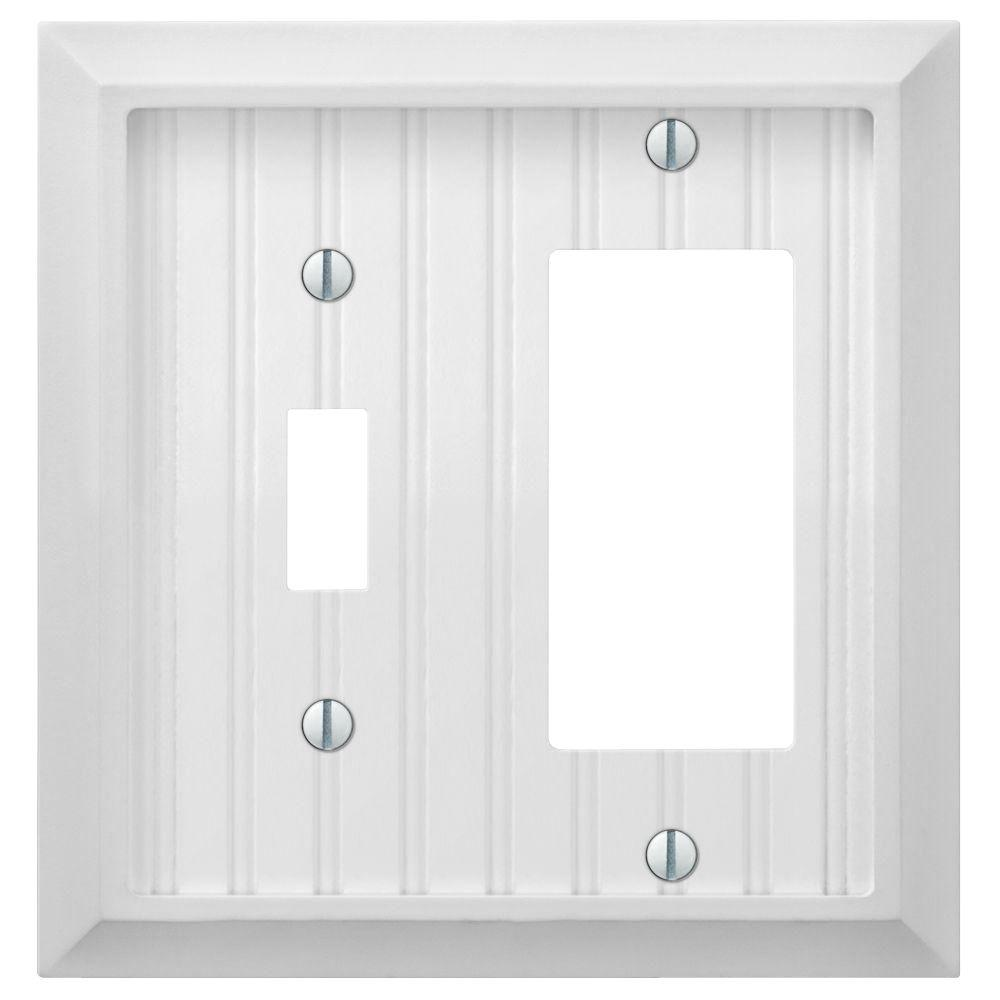 Cottage 1 Toggle 1 Decora Combination Wall Plate White