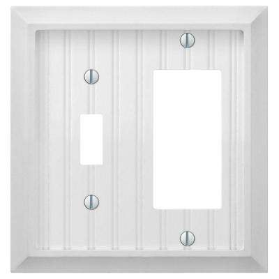 Cottage 1 Toggle 1 Decora Combination Wall Plate - White
