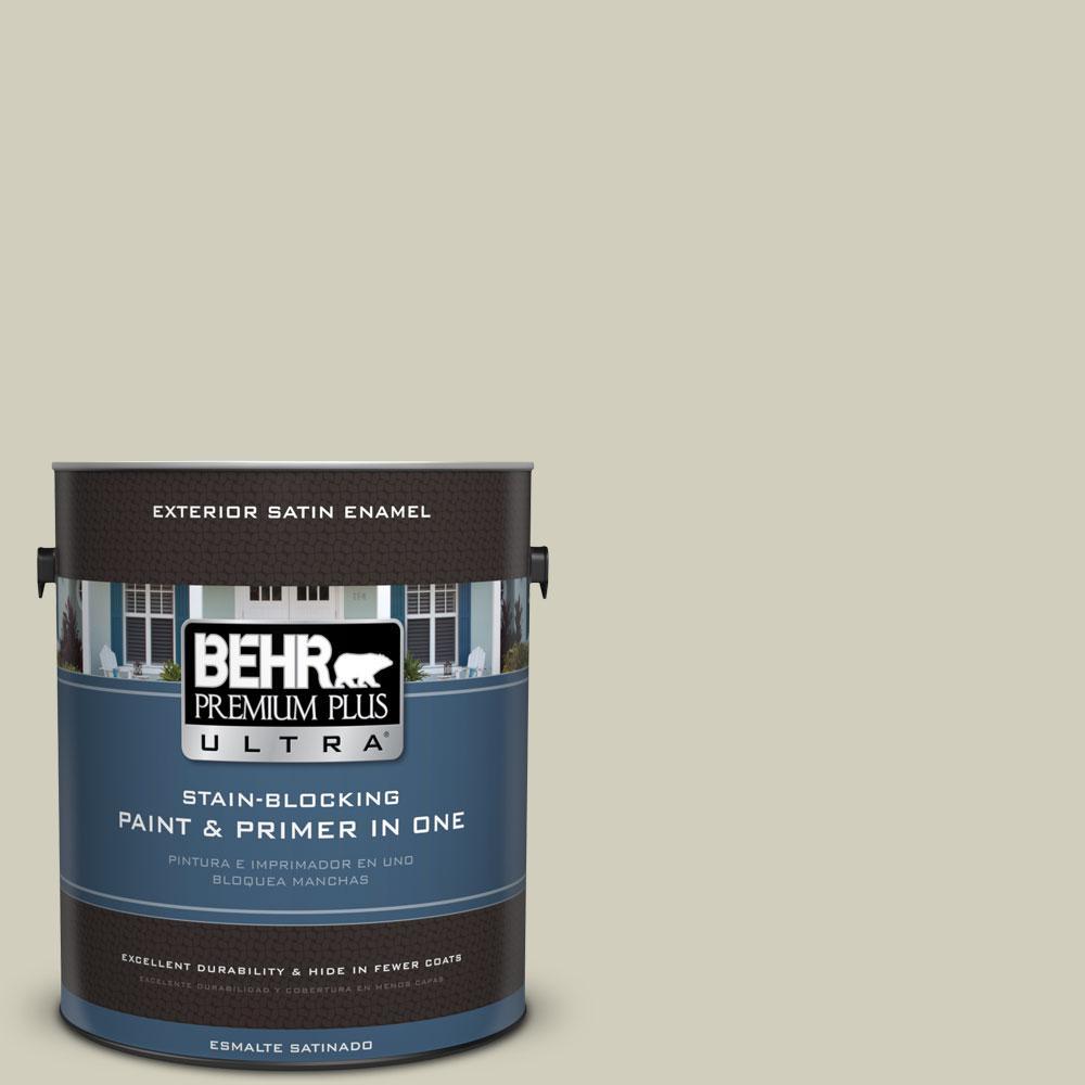 BEHR Premium Plus Ultra 1-gal. #780C-3 Ocean Pearl Satin Enamel Exterior Paint