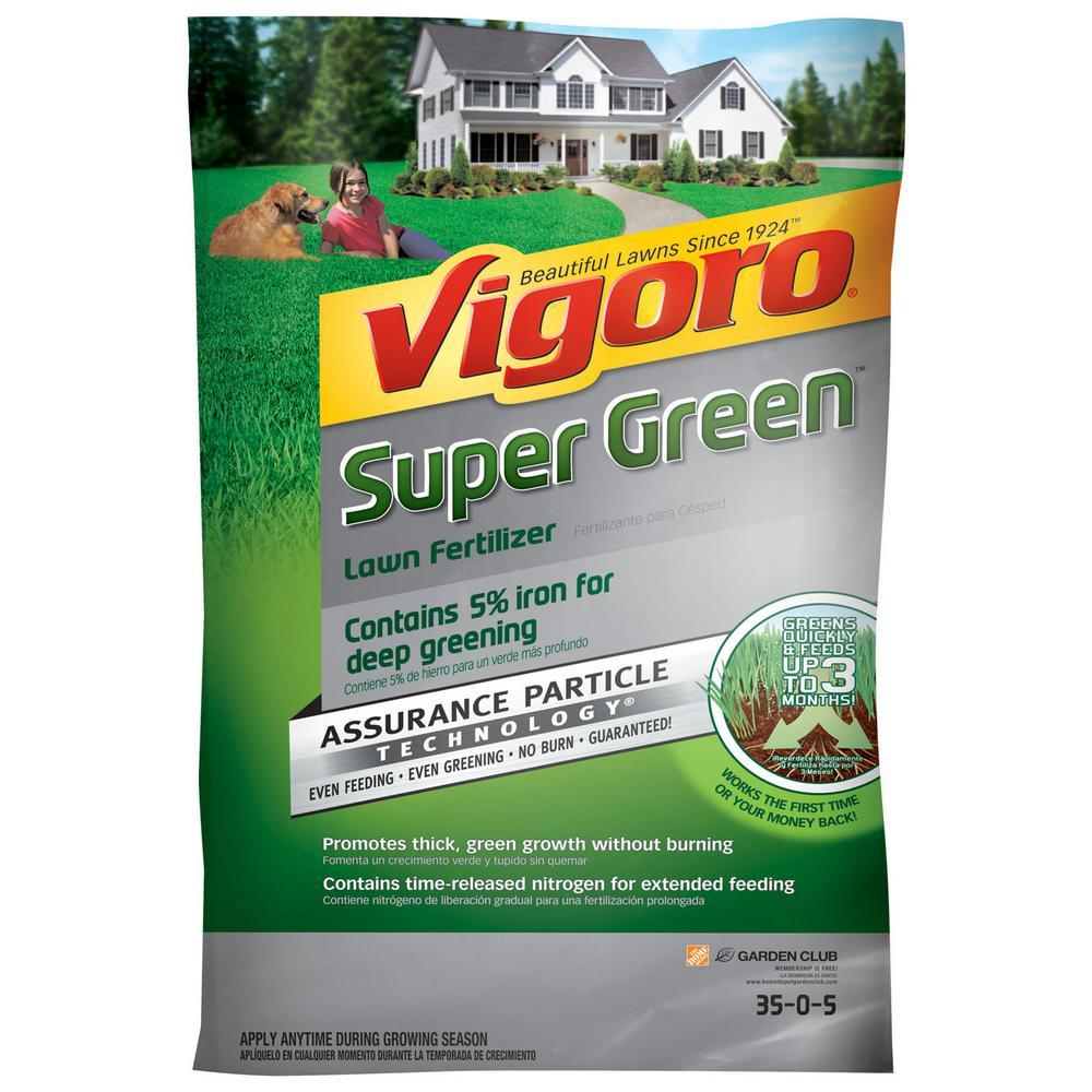 Vigoro Super Green 5,000 sq. ft. Lawn Fertilizer was $19.99 now $12.98 (35.0% off)