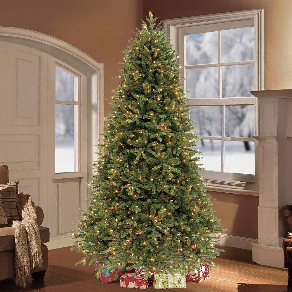 puleo 75 ft pre lit frasier fir premium artificial christmas tree with 800 clear