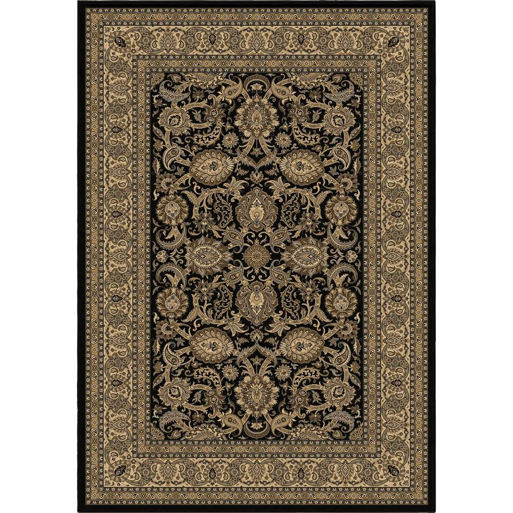 null Shelton Black 5 ft. 3 in. x 7 ft. 6 in. Indoor Area Rug