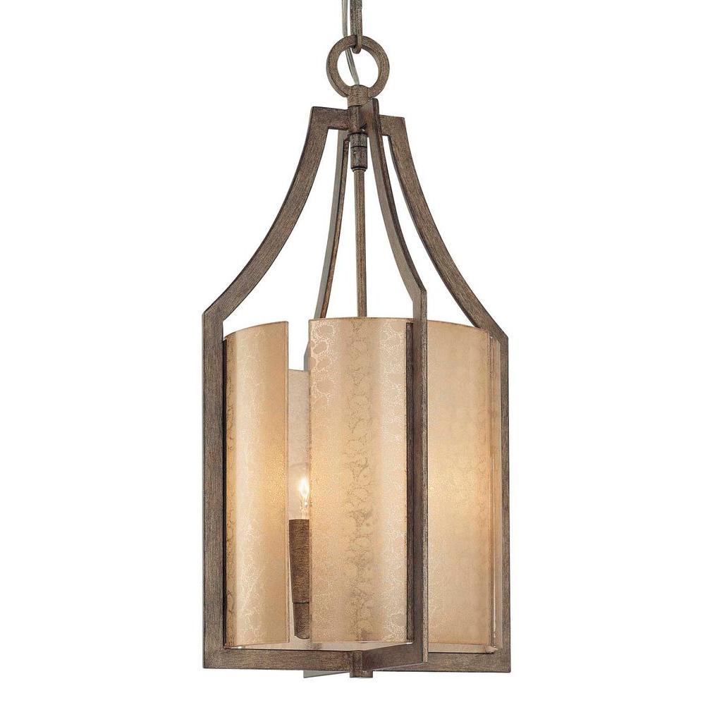 Clarte 3-Light Patina Iron Pendant