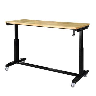 62 in. Adjustable Height Work Bench Table