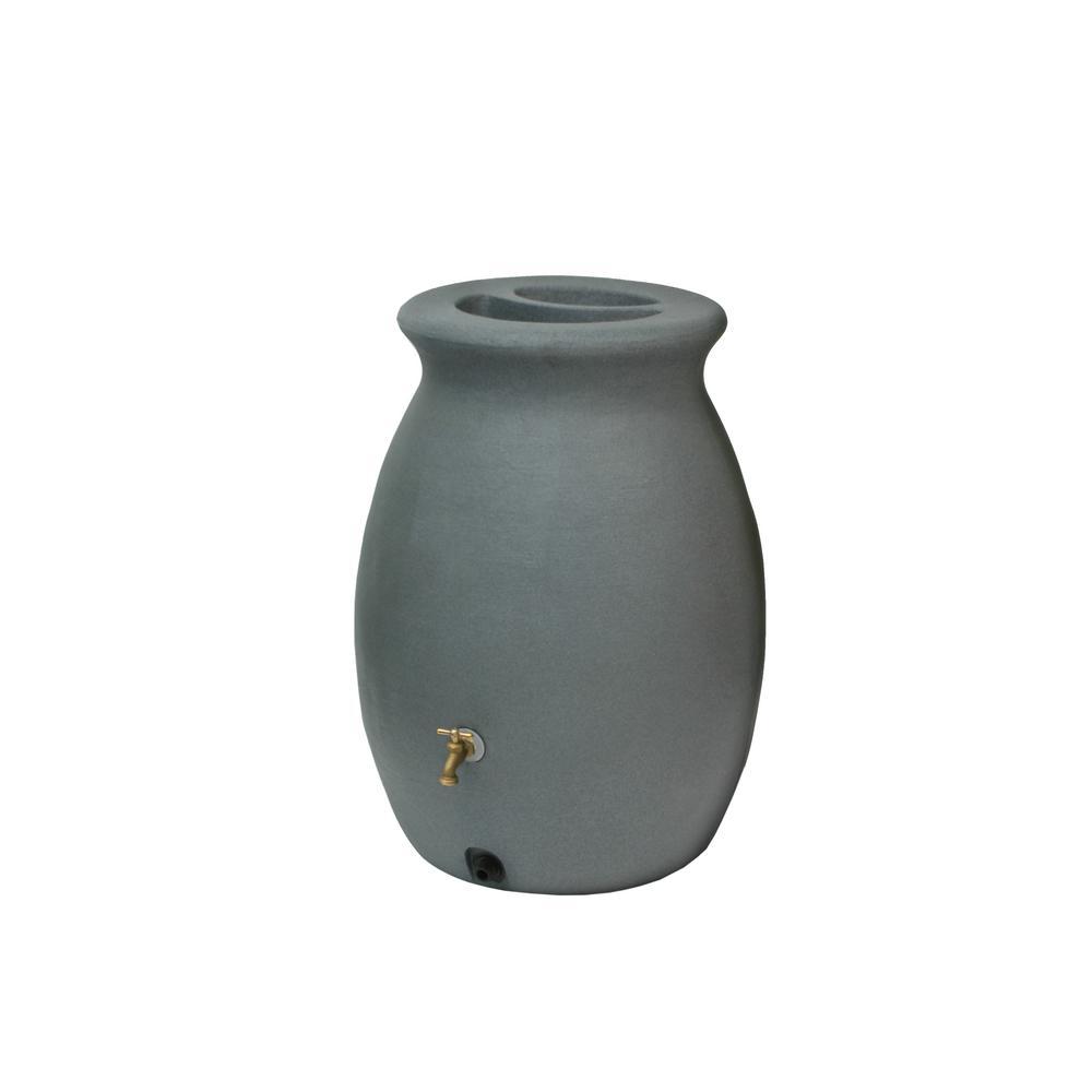 Castilla 50 Gallon Rain Barrel, Charcoalstone