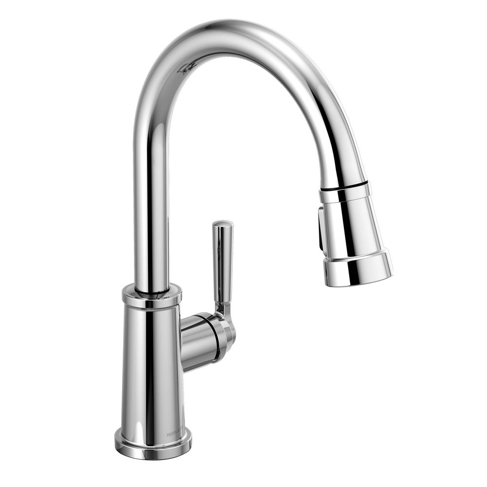 Peerless Westchester Single-Handle Pull-Down Sprayer Kitchen Faucet in  Chrome