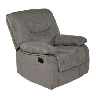 Gray Microfiber Rocker Recliner