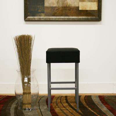 Andante Black Faux Leather Upholstered Counter Stool