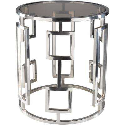 Rhiv 18 in. Chrome Side Table