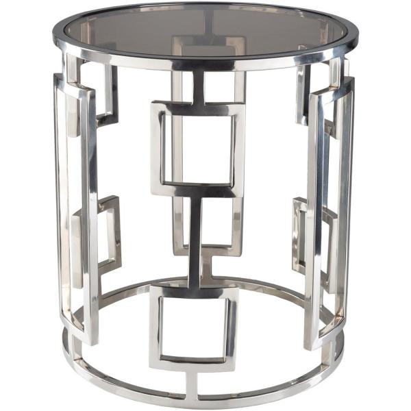 Artistic Weavers Rhiv 18 in. Chrome Side Table