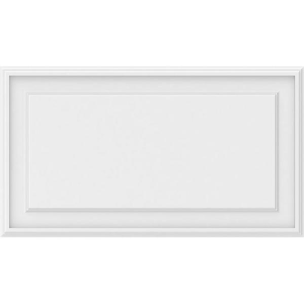 Ekena Millwork 5/8 in. x 2-2/3 ft. x 1-1/2 ft. Legacy Raised Panel White PVC Decorative Wall Panel