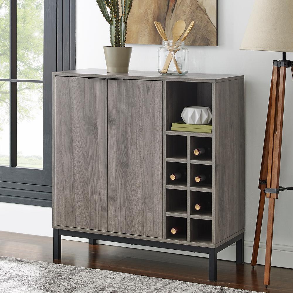 Home Furniture Company: Walker Edison Furniture Company Slate Gray Modern Bar