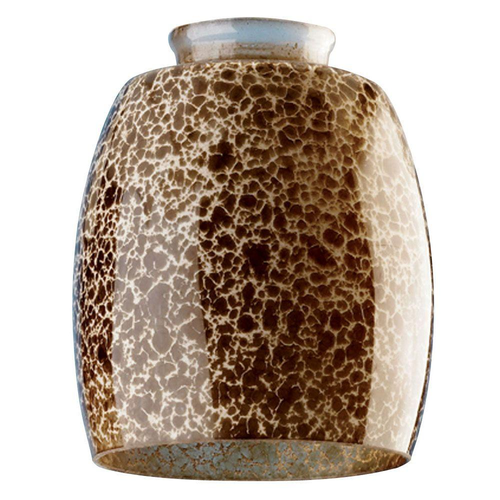 5-3/8 in. Handblown Giraffe Spot Shade with 2-1/4 in. Fitter and