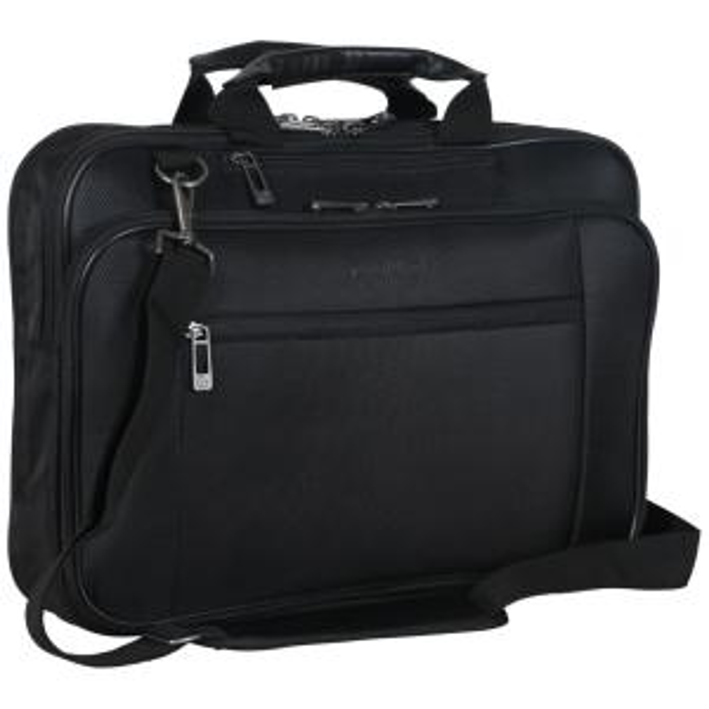 59f21273041 Black - Multi-Pocket 1680D Polyester Dual Compartment Top Zip 15.6in Laptop  Case/Business Computer Portfolio