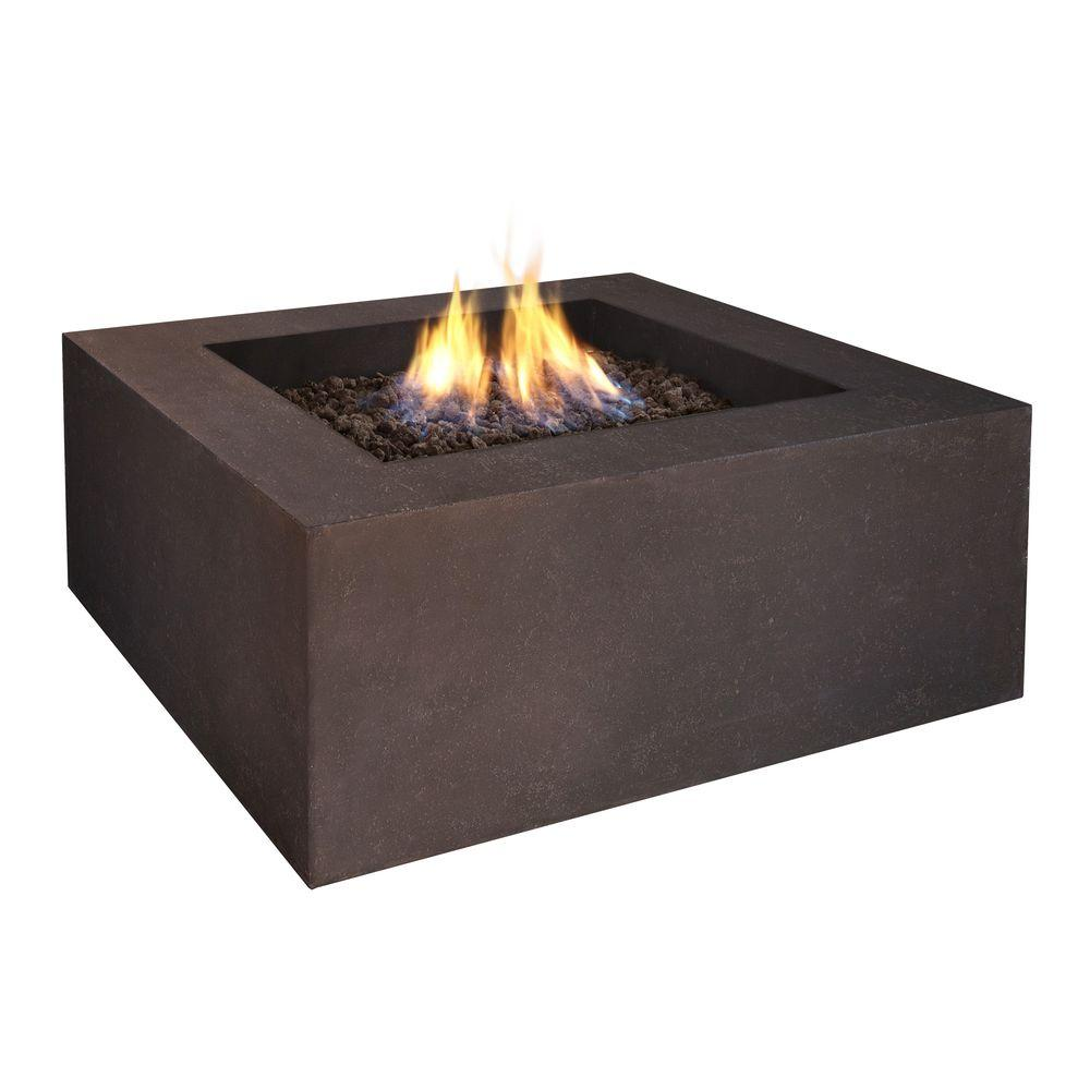 Real Flame Baltic 36 in. Square Kodiak Brown Propane Gas Fire Pit-DISCONTINUED