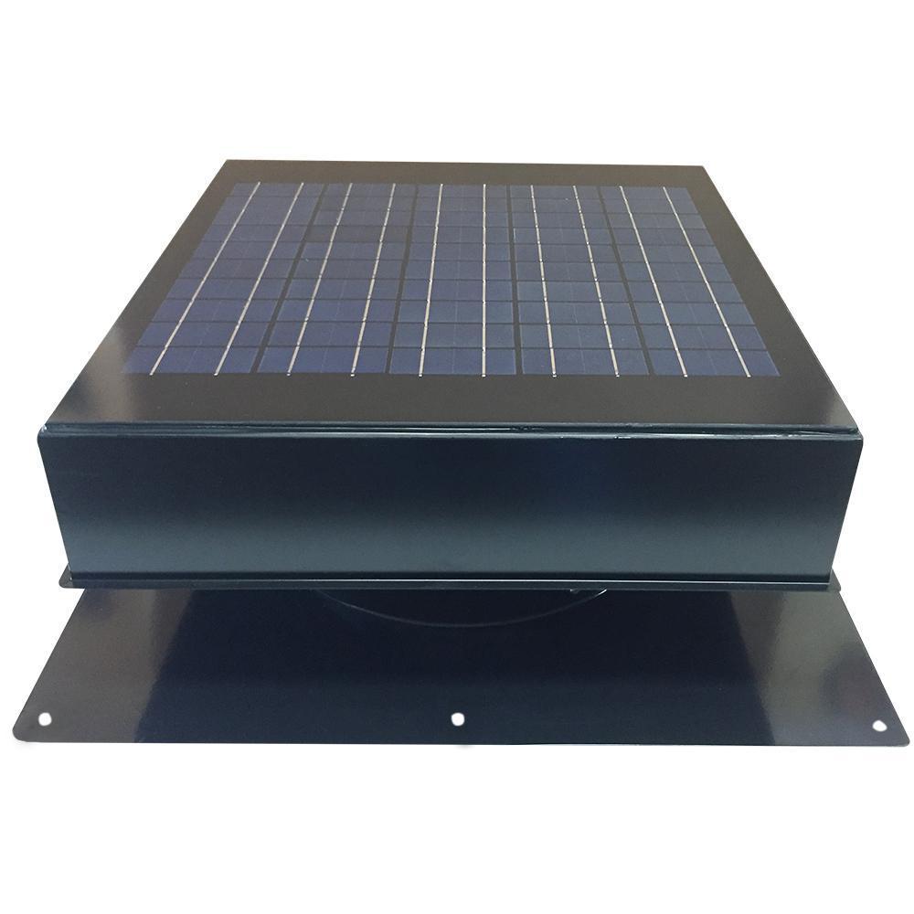Remington Solar 20-Watt 1280 CFM Black Solar Powered Attic Fan