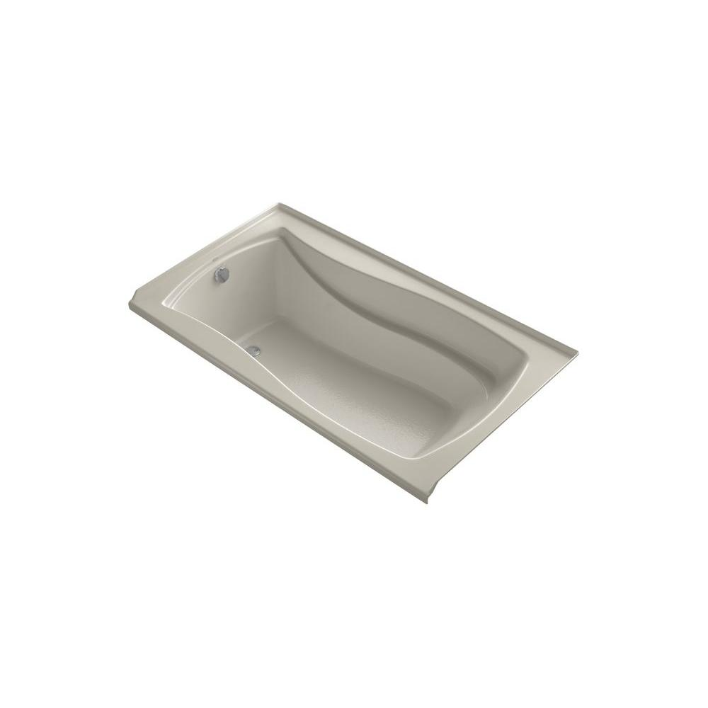 KOHLER Mariposa 5.5 ft. Left Drain Bathtub in Sandbar