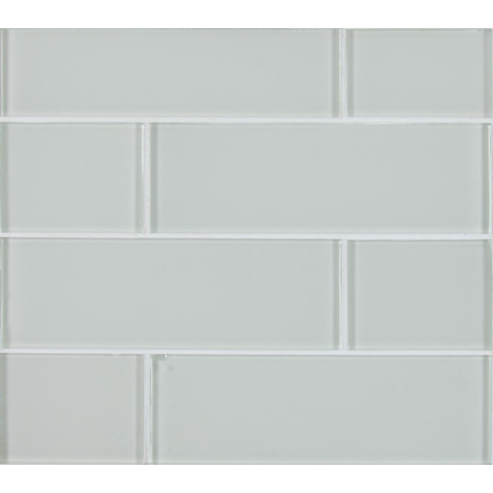 Snow Cap White 3 In X 9 8 Mm Gl Wall Tile Sq Ft Case
