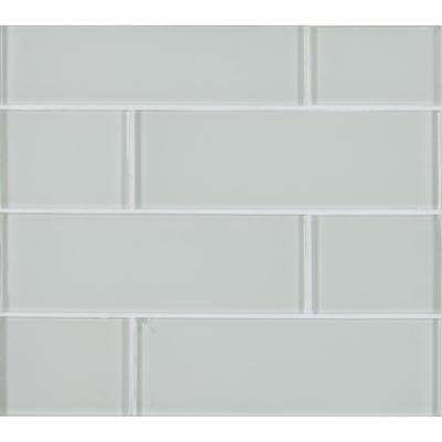 Snow Cap White 3 in. x 9 in. x 8 mm Glass Wall Tile (3.8 sq. ft. / case)